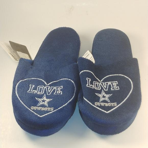 reputable site eeeee b0109 NFL Dallas Cowboys Women s Slippers